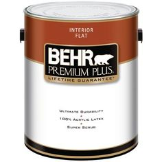 BEHR   PREMIUM PLUS Interior Flat Paint - Ultra Pure White, 3.79L. yeah but in satin for trim, doors and windows... maybe other finish for floor too... depends on how bad the wide pine is... ( peeks 70s low pile green and blue.... ) pine is good... just have to scrap the glue and baked on foam off....