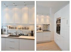 Wohnidee24 - schön ist, was gefällt: Eine schwarz-weiße Wohnung - Teil 2 Kitchen Dining, White Modern Kitchen, Kitchen, Home, Dream Apartment, Interior, Kitchen Dining Room, Cosy Kitchen, Rustic Kitchen