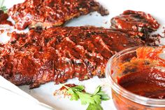 Smoked Corned Beef Brisket, Beef Brisket Recipes, Smoked Pork, Rib Recipes, Whole 30 Recipes, Paleo Recipes, Baked Bbq Ribs, Pork Ribs, Bbq Sauce Ingredients