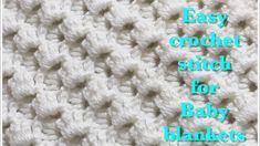Fast and easy crochet stitch for baby blankets #89