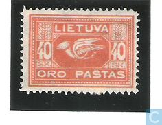 1921 Lithuania - Postal Horn