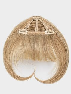 @Joy Zdeblick...Why didn't we think of this when I was growing up - or now, for that matter!! :)    Clip-in bangs by Jessica SImpson hairdo