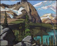 Arthur Lismer - Canadian Rockies, Oil on Group Of Seven Artists, Group Of Seven Paintings, Impressionist Landscape, Landscape Paintings, Landscapes, Oil Paintings, Canadian Painters, Canadian Artists, Tom Thomson Paintings