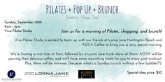 Viva Pilates Studio x Lorna Jane pop up brunch - September 20, 2015