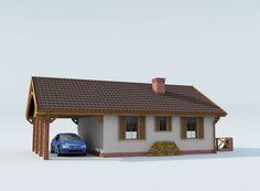 DOM.PL™ - Projekt domu PT AWINION dom letniskowy szkielet drewniany CE - DOM PD18-49 - gotowy koszt budowy Cabin, House Styles, Home Decor, Country Houses, Decoration Home, Room Decor, Cabins, Cottage, Home Interior Design