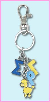 Sigma Gamma Rho Sorority Charm Keychain #greek #sorority #accessories #sigmagammarho #sgrho