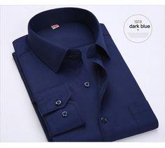 2017 tamanho Big EUA 4XL 5XL 6XL Algodão Design Clássico Dos Homens Camisas de vestido Formal do Negócio Masculino Camisas da Cor Pura de Manga Longa Sociais em Camisas de vestido de Dos homens de Roupas & Acessórios no AliExpress.com | Alibaba Group