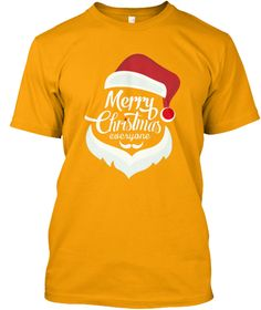 Christmas Collection Limited Edition Gold T-Shirt Front