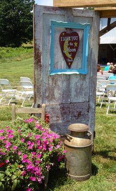 Old barn door entry .... Rustic wedding