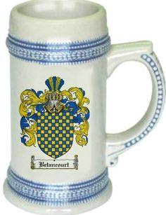 Betancourt Coat of Arms / Family Crest tankard stein mug