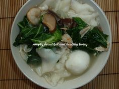Simply Beautiful and Healthy Living: Sitiawan Fuzhou Egg Noodles (Long Yan 蛋燕) Egg Noodles, Simply Beautiful, Healthy Living, Soup, Eggs, Cooking, Ethnic Recipes, Foods, Kitchens