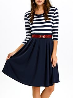 SHARE & Get it FREE | Stripe Panel A Line DressFor Fashion Lovers only:80,000+ Items • New Arrivals Daily • Affordable Casual to Chic for Every Occasion Join Sammydress: Get YOUR $50 NOW!