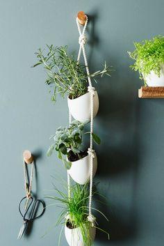 3-Tier Ceramic Hanging Planter