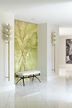 Sunset Island Residence, Miami Beach - contemporary - Entry - Miami - BROWN DAVIS INTERIORS, INC.