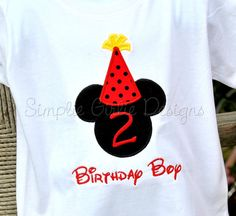Mouse with party hat birthday shirt. by SimplieGirlieDesigns, $23.00