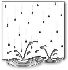 Memory Box Splashing Puddles Die. Memory Box craft dies featuring a background of splashing rain puddles. 100% steel craft die for use on cardstock, felt, and f