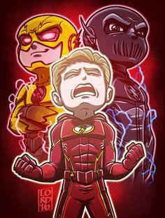 "Barry Allen (The Flash) & Professor Eobard ""Zoom"" Thawne (The Reverse-Flash)"