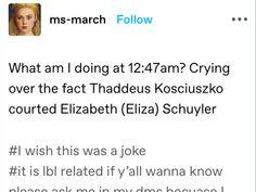 Eliza Schuyler, Hamilton Musical, Crying, Wish, Musicals, Jokes, Fandoms, Facts, History