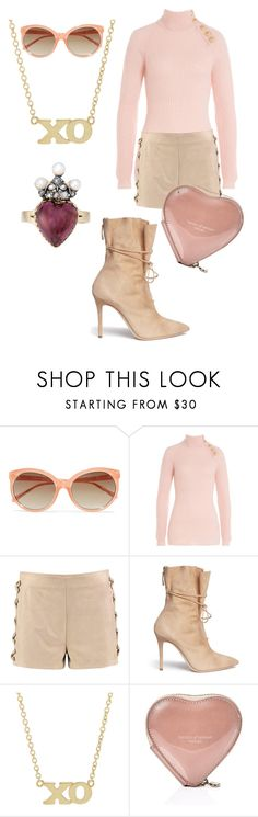 """""""OOH, AHH"""" by pursue-happiness ❤ liked on Polyvore featuring Linda Farrow, Balmain, Boohoo, Alexander White, Jennifer Meyer Jewelry and Aspinal of London"""