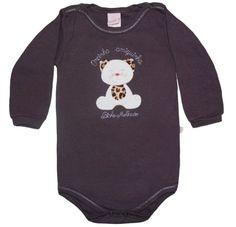 Body de bebê de manga longa da loja virtual Magoo Baby! Veja mais enxoval de bebê Magoo Baby para outono/inverno aqui: http://mamaepratica.com.br/2016/05/19/roupa-de-bebe-para-o-frio-achados-de-inverno/