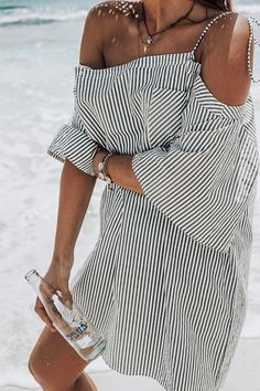 Stripy beach dress. Follow us for lifestyle inspiration with a splash of Summer. Online store coming soon!