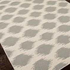 Handcrafted wool flatweave rug with ikat dot motif.   Product: RugConstruction Material: 100% WoolColor: