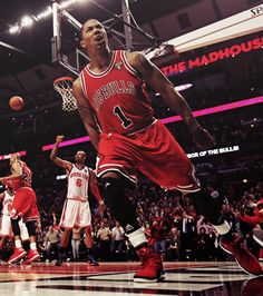 Drose after making that sick dunk last night