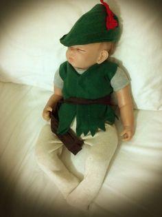 Newborn boy  Halloween costume Peter pan by PreciousBabyClothes, $32.00
