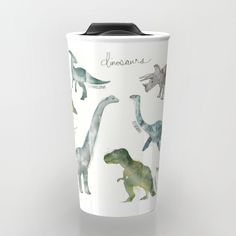 Buy Dinosaurs Travel Mug by amyhamilton. Worldwide shipping available at Society6.com. Just one of millions of high quality products available.