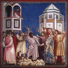 Scenes from the Life of Jesus Christ: Massacre of the Innocents / Masacre de los Santos Inocentes // 1304-1306 // Giotto di Bondone // Fresco / Cappella Scrovegni (Arena Chapel), Padua