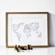 Digitaldruck - A3 Print Geometrical World - ein Designerstück von nahili bei DaWanda