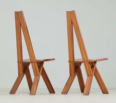 Pair 'S45' chairs by Pierre Chapo