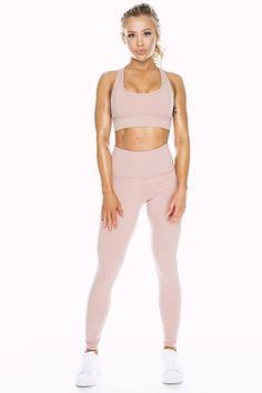 Dusty Pink High Waist Leggings - Saski Collection