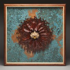 """The Beauty Within"" a wall sculpture carved from wood by Mark Doolittle."