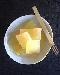 Pickled Watermelon Rind with Ginger and Jalape