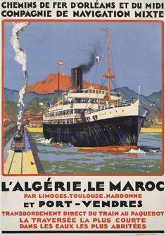 L'Algerie, Le Maroc et Port - Vendres by Lachevre, Bernard R.    Shop original vintage #posters online: www.internationalposter.com.