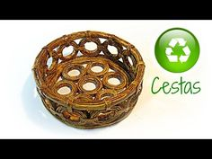 Cómo hacer cestas de papel periodico. How to make basket paper - YouTube