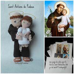 Crochepatyfil créations: Saint Antoine de Padoue amigurumi création perso