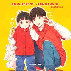 Yoonmin Fanart, Jungkook Fanart, Kpop Fanart, Cute Cartoon Drawings, Bts Drawings, Foto Bts, 17 Kpop, Bts Meme Faces, Dibujos Cute
