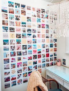 Girls Room Paint, Girls Room Wall Decor, Cute Room Decor, Room Ideas Bedroom, Bedroom Decor, Bedroom Inspo, Teen Bedroom, Photowall Ideas, Cute Room Ideas