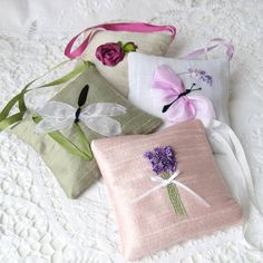 craft ideas with ribbon lavender sachet tea bags could be matching sents for 3986