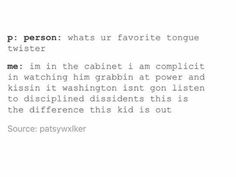 Thomas Jefferson tongue twister in Hamilton