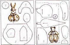 Выкройки старинных советских игрушек художника А.Н. Изергиной - зайка и мишка / Мастер-классы, творческая мастерская: уроки, схемы, выкройки кукол, своими руками / Бэйбики. Куклы фото. Одежда для кукол