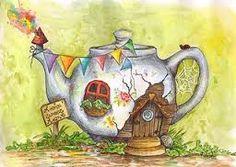 teapot house illustration