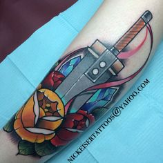 Buster Sword and flowers. Love it!