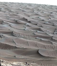 A close-up of the dunes from the Curiosity rover. Image credit: NASA / JPL-Caltech / MSL Curiosity Rover.