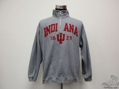Step Ahead Indiana Hoosiers Quarter Zip SEWN Sweatshirt sz M Medium University  #StepAhead #IndianaHoosiers