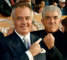 """Tony Sirico (""""Paulie"""") and Frank Vincent (""""Phil"""") Best Tv Series Ever, Best Tv Shows, I Movie, Movie Stars, Frank Vincent, A Bronx Tale, Tony Soprano, Mafia Gangster, Michael Bolton"""