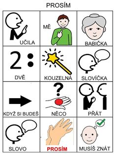 Pro Šíšu: Básničky i pro autíky Kids Learning Activities, Baby Time, Pictogram, Montessori, Adhd, Crafts For Kids, Preschool, Language, Classroom