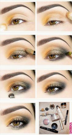 Golden Orange Makeup!! #MAKEUP #BEAUTY